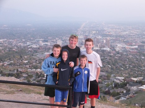 Ensign Peak overlooking the city.